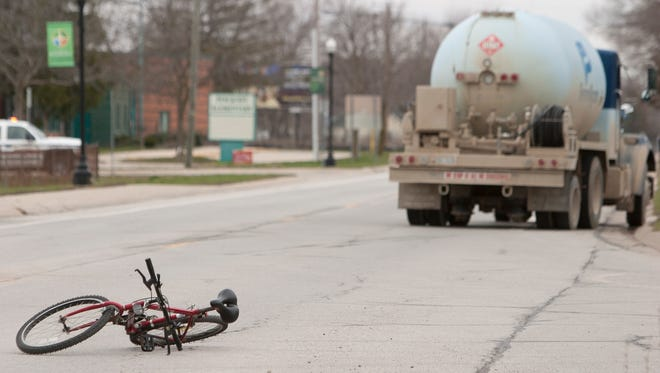 An accident involving a bicyclist and a truck sent the bike rider to the hospital with very significant injuries.