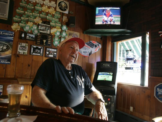 Allie Clark sits in Lagoda's Saloon in South Amboy, in 2007.