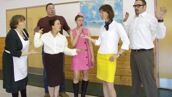 """The Middlebury Community Players present the manic farce """"Boeing Boeing"""" through Sunday at the Town Hall Theater."""