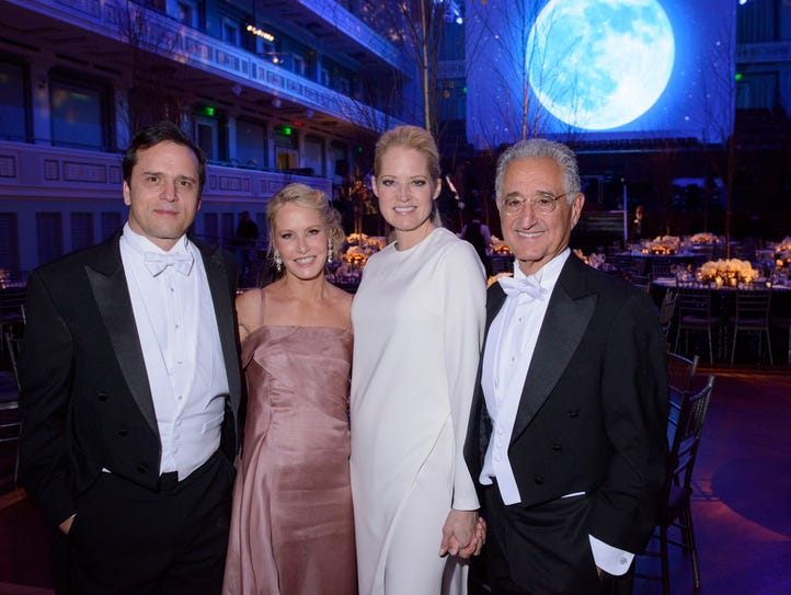 2017 Symphony Ball co-chairs Ashley Rosen, second from