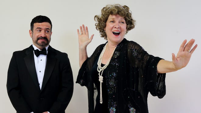 "Jono Mainelli and Callan White play Cosme McMoon and Florence Foster Jenkins in ""Souvenir"" on NC Stage."