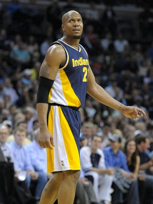 Indiana Pacers forward David West (21) looks on against the Memphis Grizzlies at FedExForum.