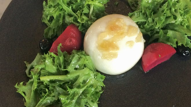 Baby Beet Salad with burrata and Luxardo cherries from WestEnd Kitchen & Bar.