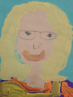 Portrait created by a kindergarten student at Southern Door School, which can be seen in the school's Fine Arts Festival on April 14.