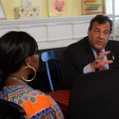 Gov. Chris Christie spoke in Paterson on Thursday about