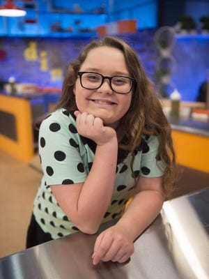 The French chef with the glasses. Contestant Sabrina Richard as seen on Food Network's 'Rachael Rays Kids CookOff,' Season 1.