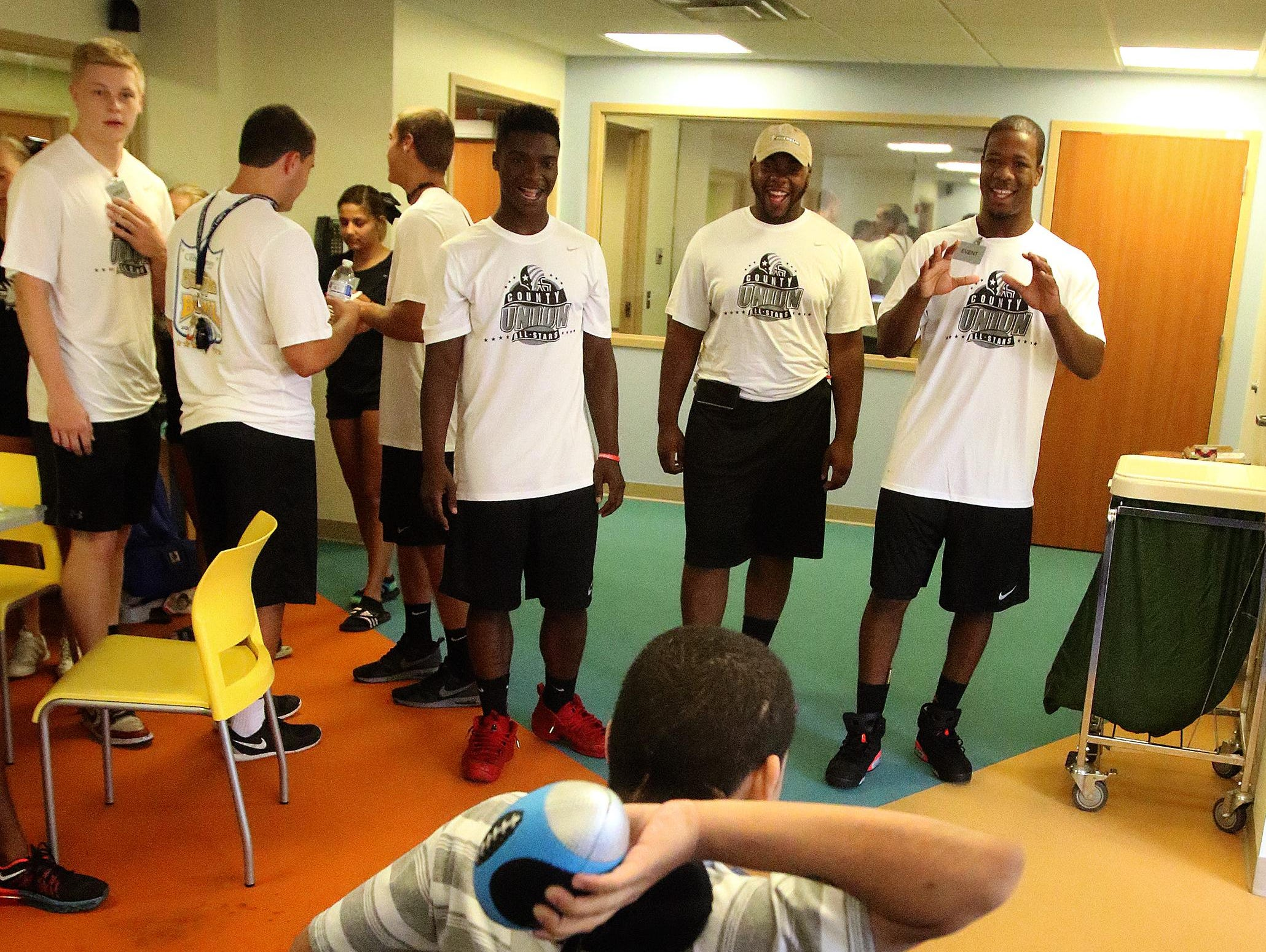 The Snapple Bowl's Union County All-Stars made their annual visit to Children's Specilaized Hospital on Monday in Mountainside.