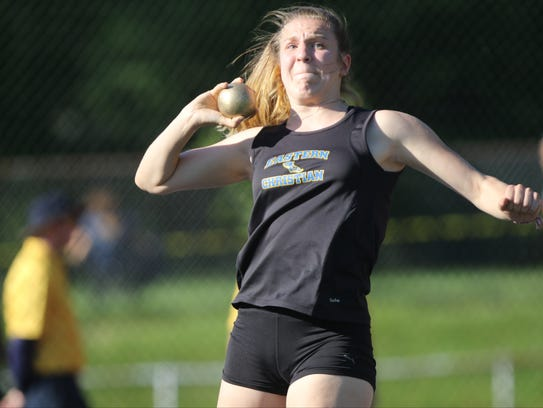 Madison Wynbeeck, of Eastern Christian, competes in