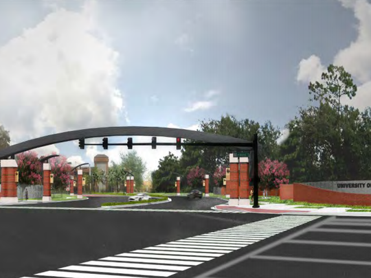 Concept art of the proposed enhancements to the entrance