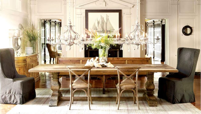 A dining room design from the 2013 Arhaus catalog.