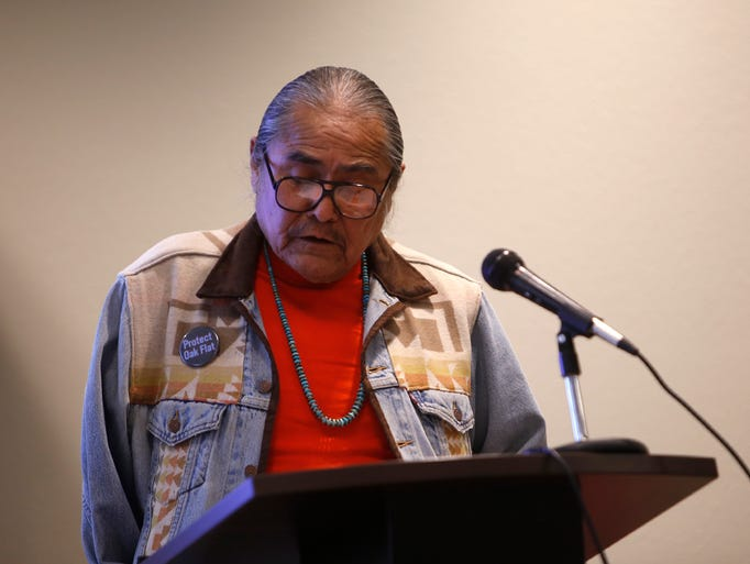 "Shiprock Chapter President Duane ""Chili"" Yazzie read"