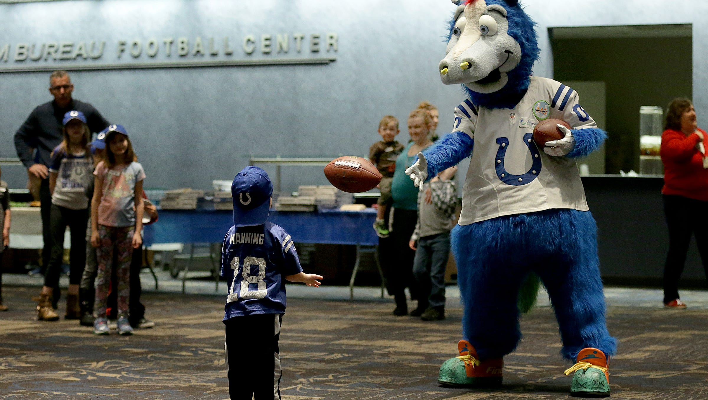 Feeling Blue Colts Mascot Focuses On Giving Back
