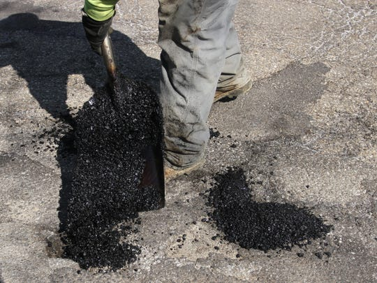 People can go on the city's website and report potholes.