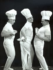A 1974 publicity photo of the Three Little Bakers: