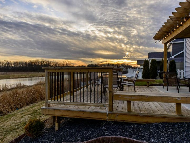 This $360K West Lafayette home has water views from