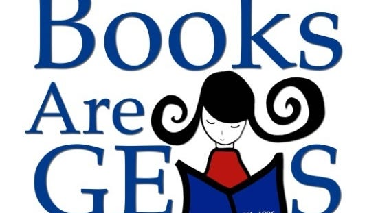 The Books are GEMS bookstore logo. The store will sponsor a contest for young readers in August.