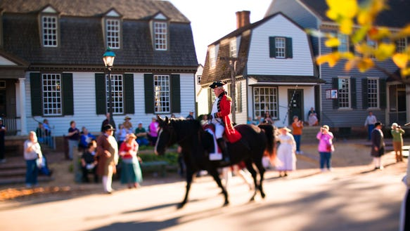 Colonial Williamsburg Man on Horse 2