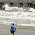 Rough seas by Jetty Park in Cape Canaveral and along the coast, like this scene, have hampered fishermen this week.