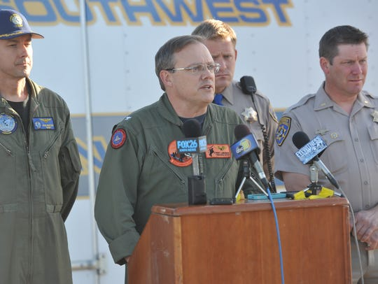 Naval Air Station Lemoore commander Capt. Monty G.
