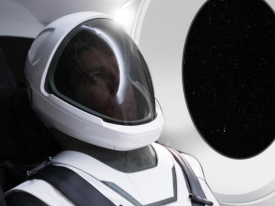 The first image of SpaceX's new spacesuit, released by CEO Elon Musk on Wednesday, shows the company's foray into the hardware, which will be worn by astronauts traveling to the International Space Station.