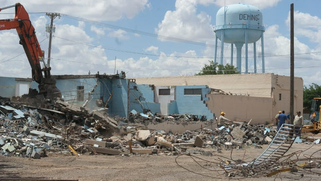 Deming's old municipal pool, built in 1918, will be cleared for economic development.