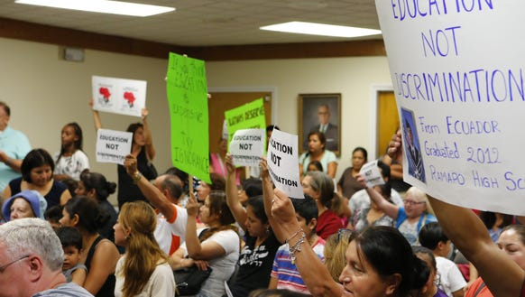 Protesters filled a 2014 East Ramapo Central School