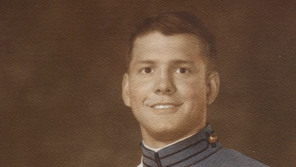 Roy Moore as a cadet at West Point. Moore graduated