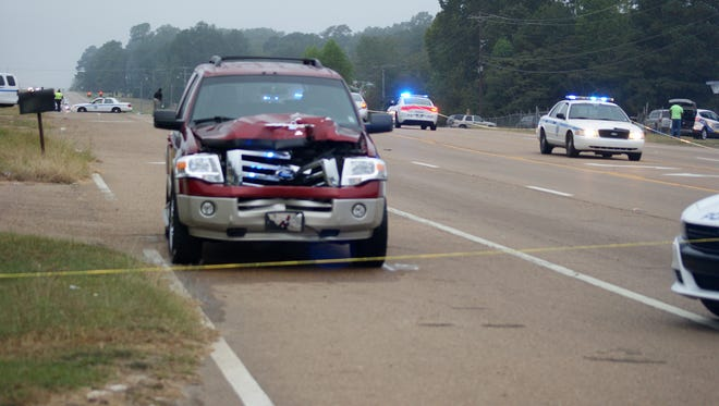 A woman was killed after being struck by this SUV in Jackson.