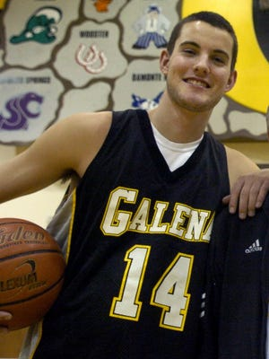 Tristan Hill is shown in 2007, when he was on the Galena High School basketball team. 05
