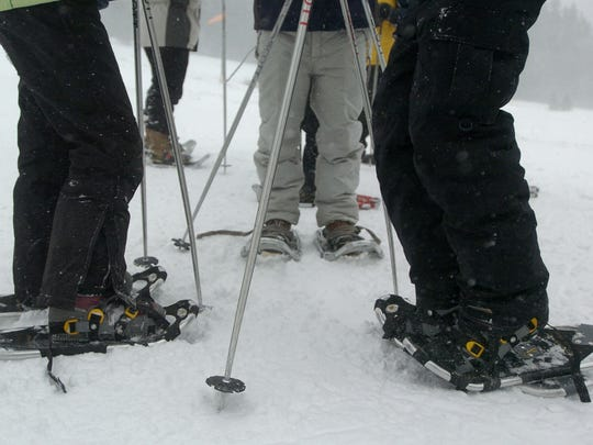 Snowshoers gather before a hike at Winter Trails Day. This year's event is set for Feb. 7 at Silver Crest Winter Trails.