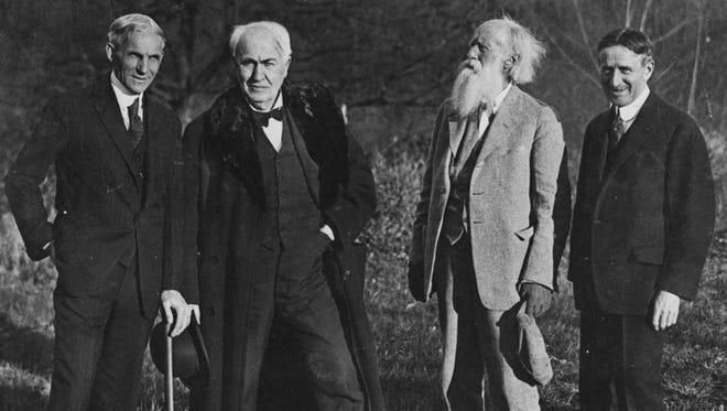The four Vagabonds: Henry Ford, Thomas Edison, John Burroughs and Harvey Firestone.