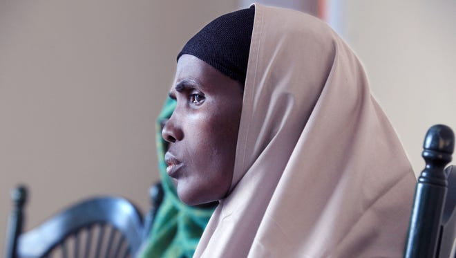 After two cancellations, Mumina Hassan Aden and her family made it into Rochester last month from Dagahaley.