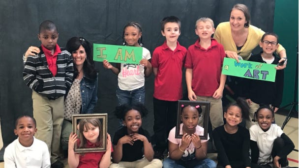 Neptune Township celebrates young learners as works of art all year long.