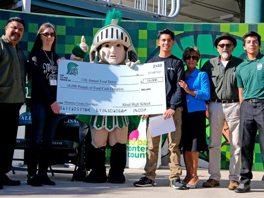 Alisal High School students gathered 16,000 pounds of food to donate to Food Bank for Monterey County