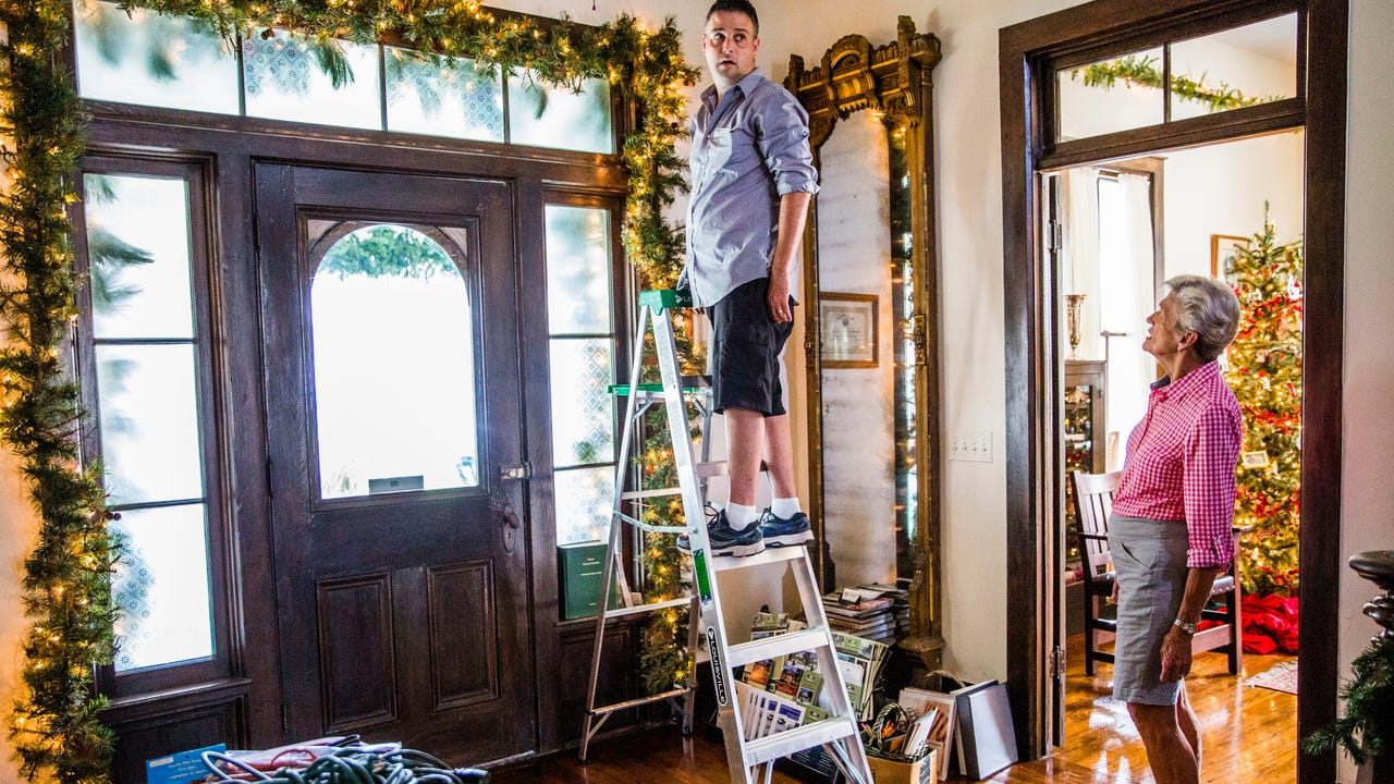 """The Historic Palm Cottage in Naples was being decorated for Christmas on Monday, Nov. 13, 2017. The staff is preparing for the cottage's event Ten Days of Christmas, with each night, starting at 8 p.m., featuring a """"telling of holidays past."""""""