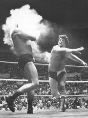 Jerry Lawler, circa 1977, smokes the competition; from