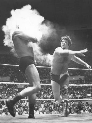 "Jerry Lawler, circa 1977, smokes the competition; from the book ""Sputnik, Masked Men & Midgets: The Early Days of Memphis Wrestling"" by Ron Hall"