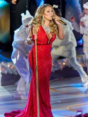 Mariah Carey performs during the 82nd Annual Rockefeller Christmas Tree Lighting Ceremony at Rockefeller Center on Dec. 3, 2014 in New York City.