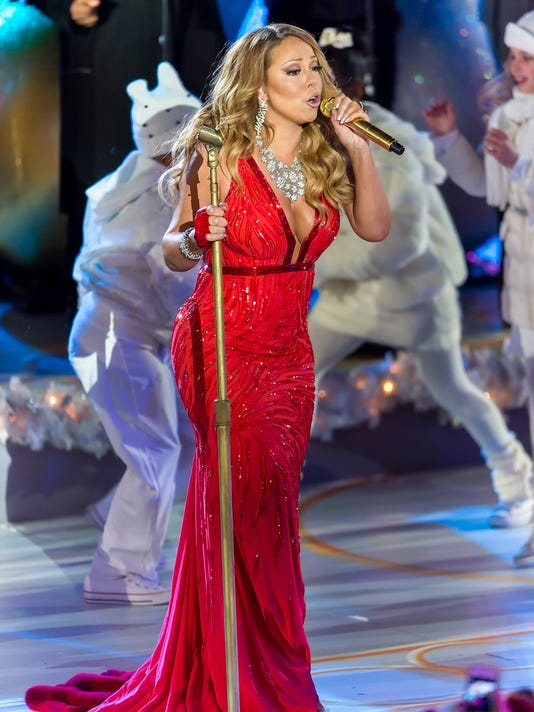 mariah carey performs during the 82nd annual rockefeller christmas tree lighting ceremony at rockefeller center on dec 3 2014 in new york city - New York Christmas Tree Lighting 2014