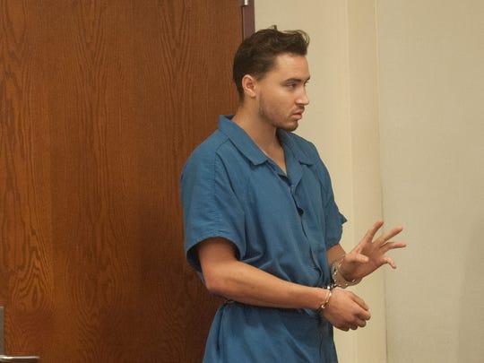 Mason Mallon of Gibbsboro appears before Superior Court