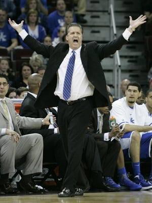 Coach John Calipari of the University of Kentucky basketball team will sign books Wednesday at the Mall Road Kroger.