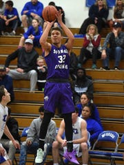 Spanish Springs' Jalen Townsell shoots during a recent game against McQueen.