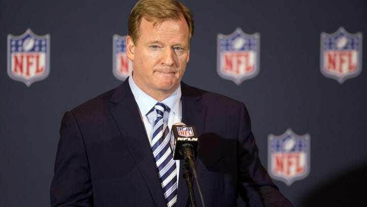 NFL commissioner Roger Goodell will speak in New York on Friday regarding domestic violence and the personal conduct policy.
