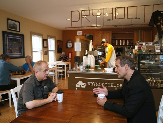 Architect Paul Alt (right), who designs spaces condusive
