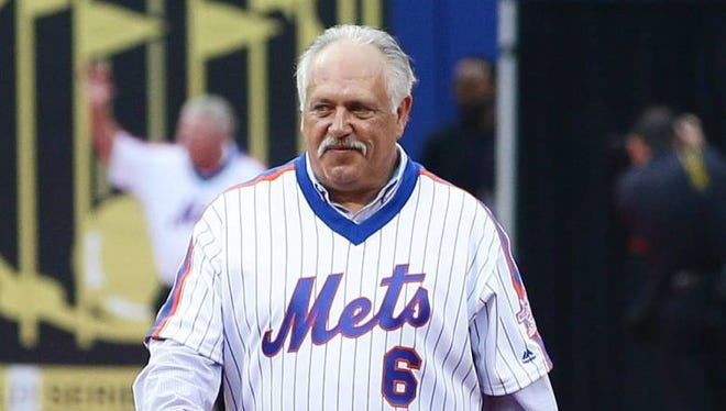 In this May 28, 2016 file photo, Mets former infielder Wally Backman is introduced to the crowd during a pregame ceremony honoring the 1986 World Series Championship team prior to the game against the Los Angeles Dodgers at Citi Field.