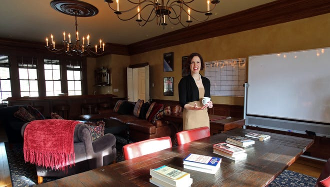 Program director Jerri Anna Phenix in the classroom of what she hopes will be a future Paradigm Treatment Center out of an Armonk mansion Jan. 5, 2017. The short-term treatment center helps children who suffer from depression and anxiety.