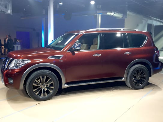 Nissan revealed its 2017 Nissan Armada eight passenger