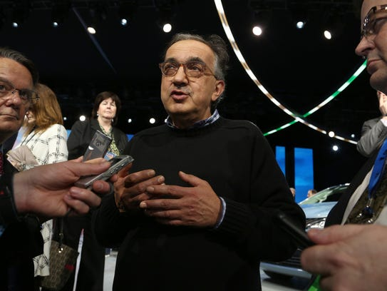 Sergio Marchionne at the FCA stage at the 2016 North