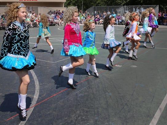 Members of the Cashel Dennehy School of Irish Dance show off their skills at Irish Fest in 2015.