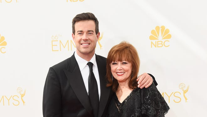 TV host Carson Daly (L) and Pattie Daly Caruso attend the 66th Annual Primetime Emmy Awards held at Nokia Theatre L.A. Live on August 25, 2014 in Los Angeles, California.
